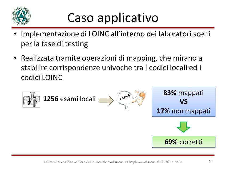 Caso applicativo I sistemi di codifica nellera dell'e-Health: traduzione ed implementazione di LOINC in Italia 17 Implementazione di LOINC allinterno