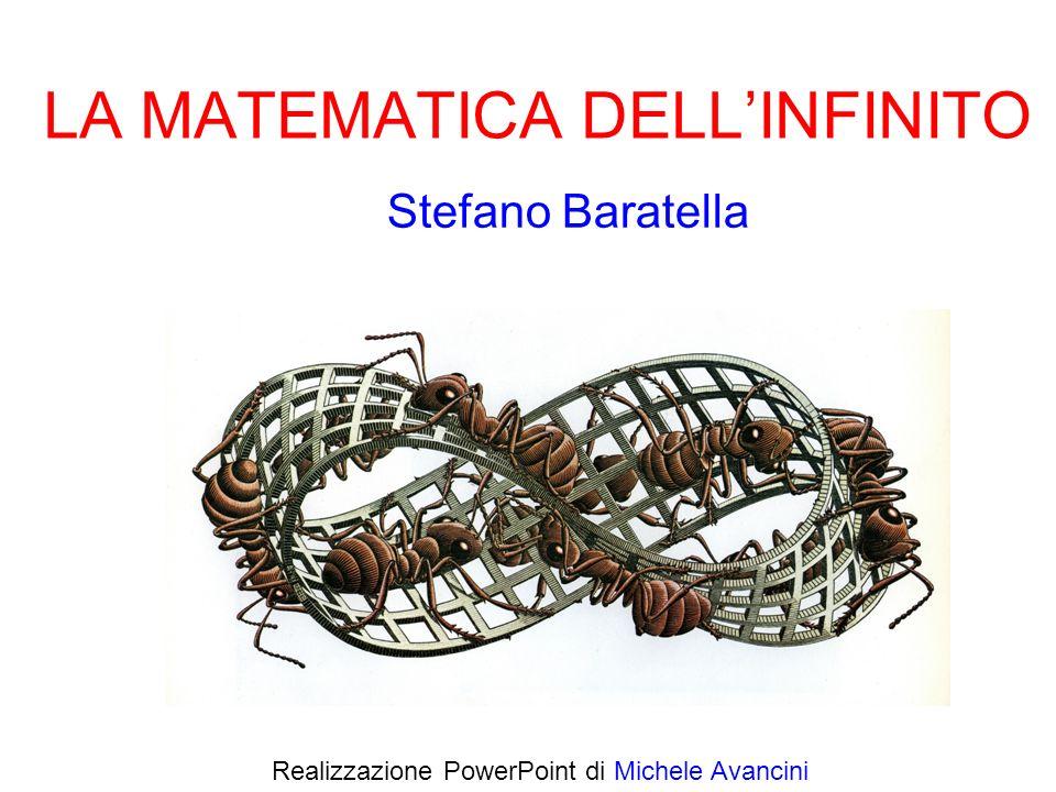 Possiamo distinguere 2 tipi di infinito INFINITO potenziale (linfinito dei greci antichi) ׀׀׀ ׀׀׀ … 123 …n … attuale (linfinito della matematica moderna) … Cè - in realtà - una gerarchia illimitata di infiniti attuali ׀׀׀ … ׀