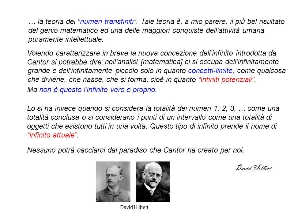 … la teoria dei numeri transfiniti.