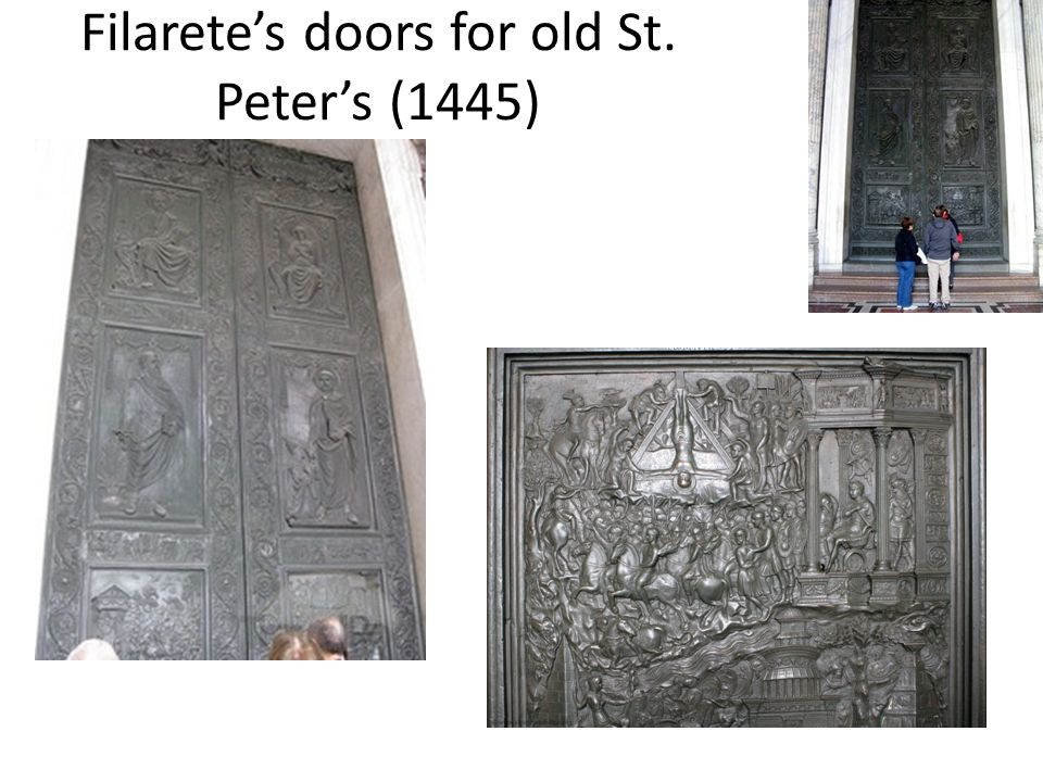 Filaretes doors for old St. Peters (1445)
