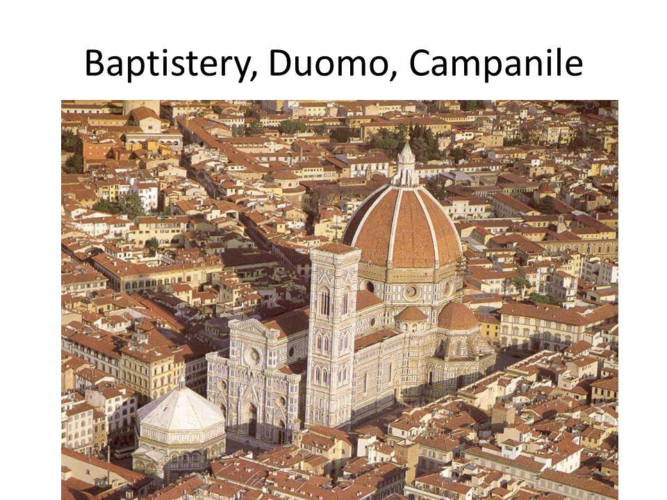Baptistery, Duomo, Campanile