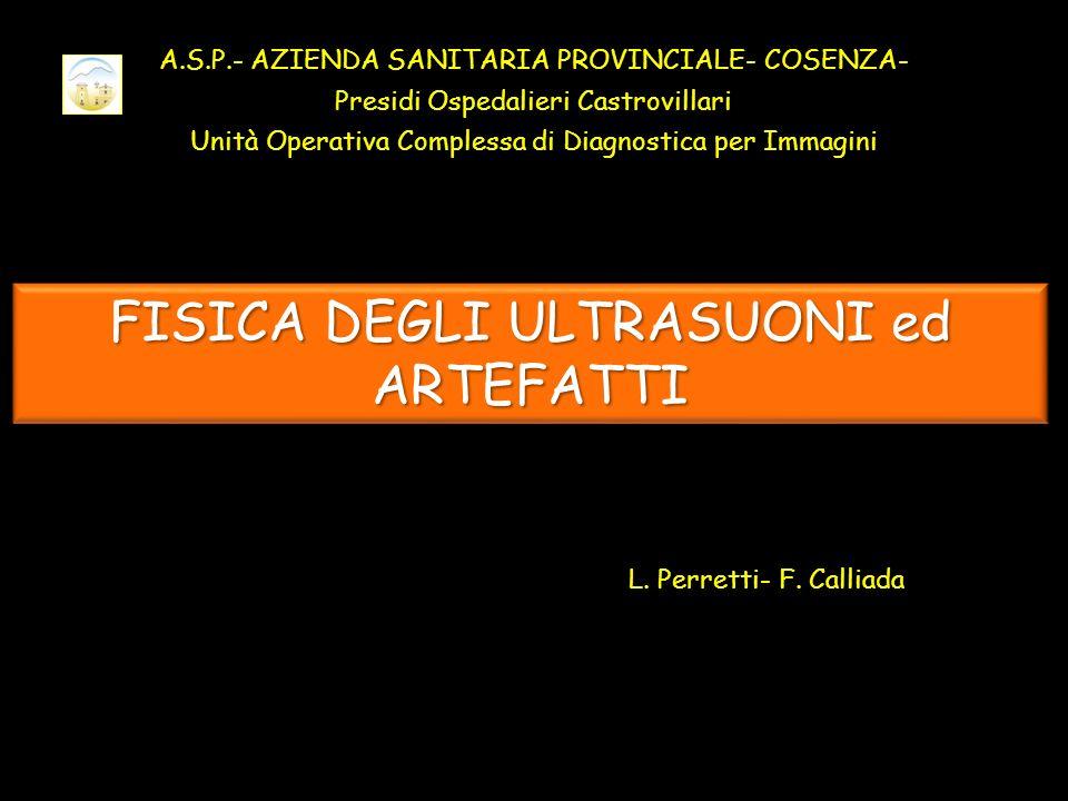 FISICA DEGLI ULTRASUONI ed ARTEFATTI L.Perretti- F.