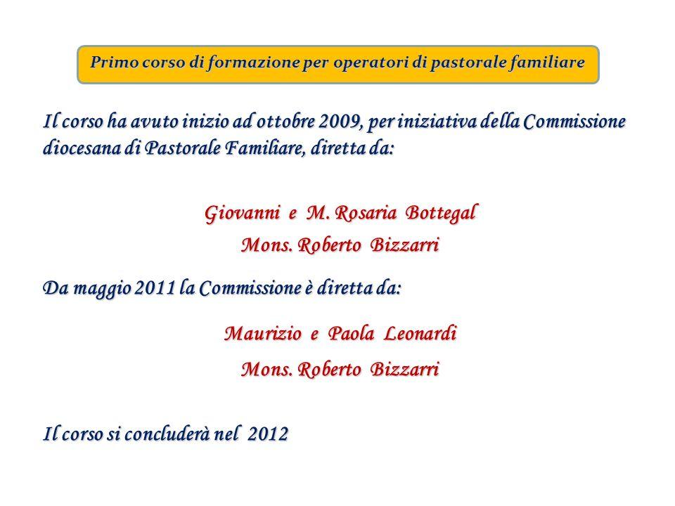 Primo corso di formazione per operatori di pastorale familiare Il corso ha avuto inizio ad ottobre 2009, per iniziativa della Commissione diocesana di