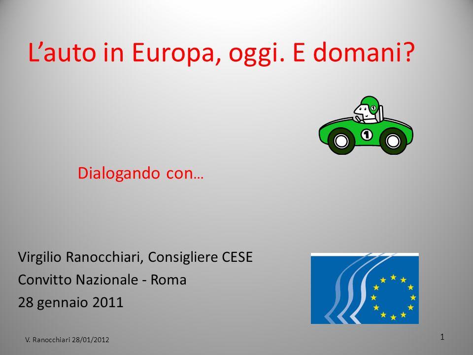 V. Ranocchiari 28/01/2012 Lauto in Europa, oggi. E domani.