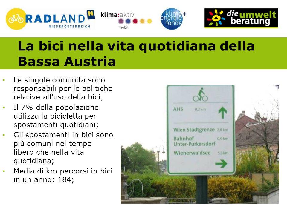 Obiettivi della Campagna RADLand Voluta dalla politica; Coordinata con il programma sul clima; In corso dal 2007; L obiettivo è quello di incrementare l uso della bicicletta nella vita quotidiana in modo significativo grazie ad un insieme di iniziative