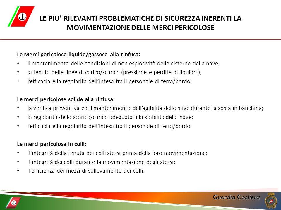 Guardia Costiera Ordinanza 08/2011 «Movimentazioni di carichi solidi alla rinfusa» Art.