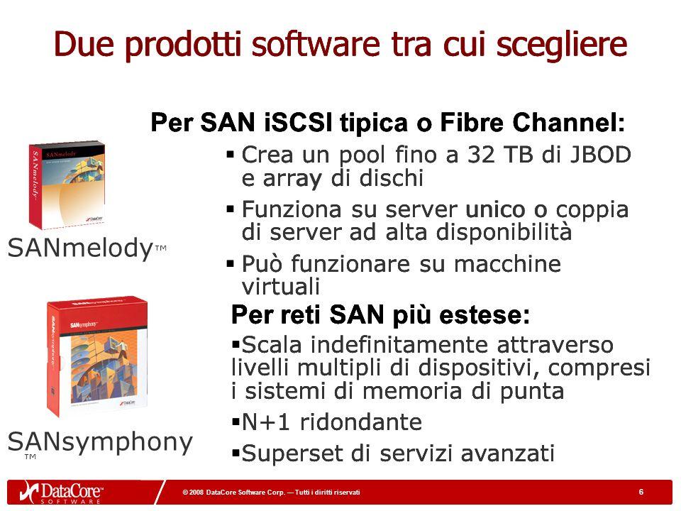17 © 2008 DataCore Software Corp.Tutti i diritti riservati 17 © 2008 DataCore Software Corp.