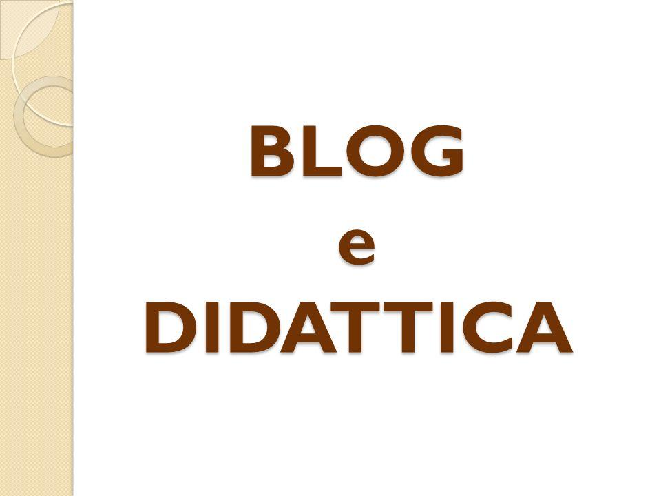 Negli ultimi anni i Blog hanno avuto molto successo e popolarità e sono divenuti oggetto di ricerca e studio.