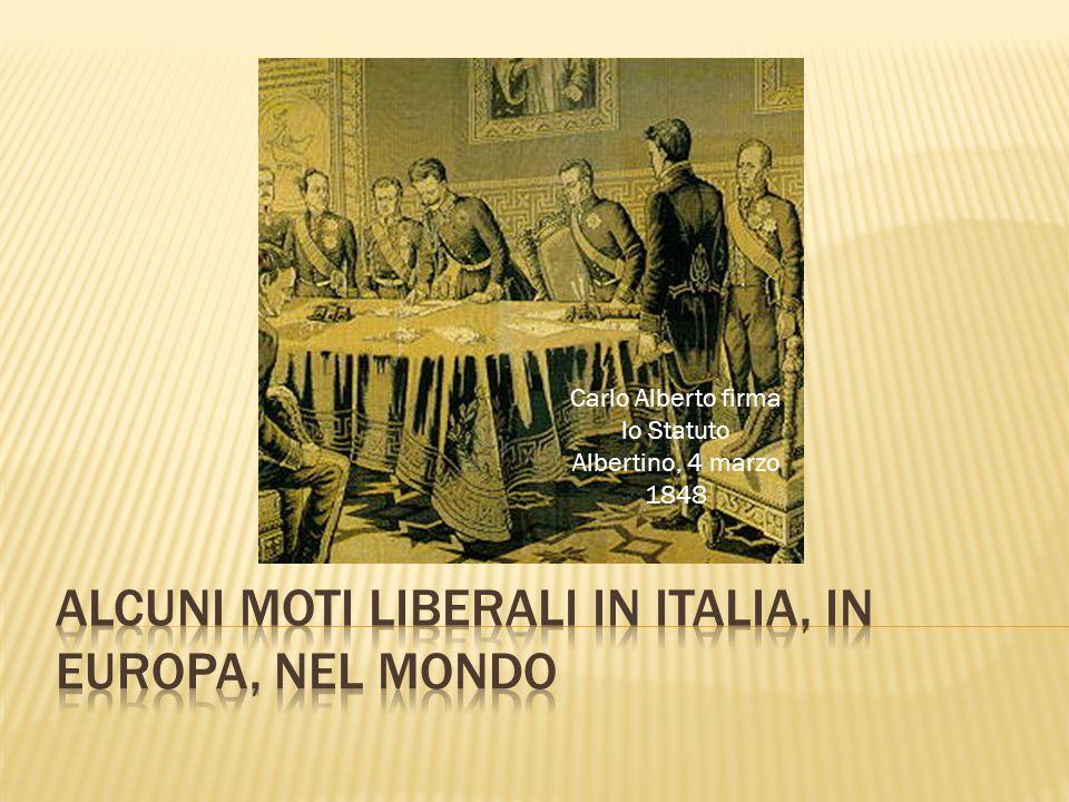Carlo Alberto firma lo Statuto Albertino, 4 marzo 1848