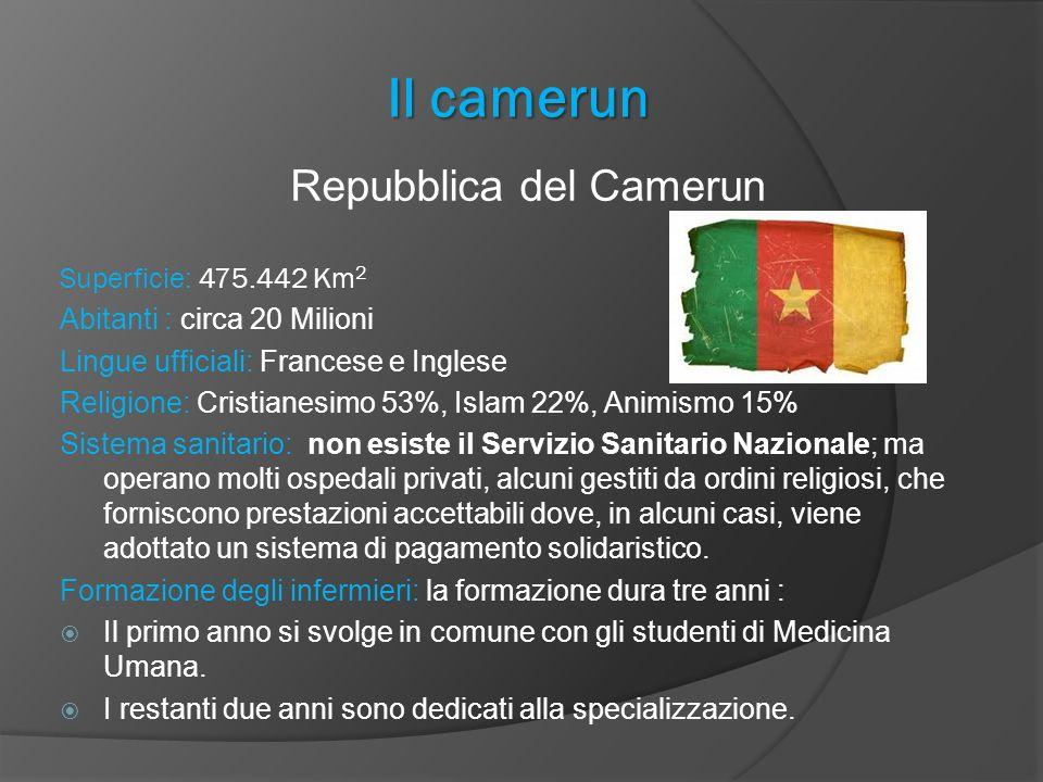Il camerun Repubblica del Camerun Superficie: 475.442 Km 2 Abitanti : circa 20 Milioni Lingue ufficiali: Francese e Inglese Religione: Cristianesimo 5