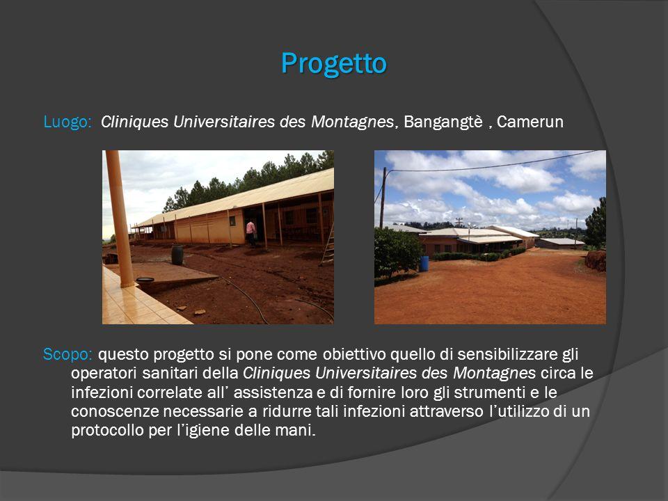 Progetto Luogo: Cliniques Universitaires des Montagnes, Bangangtè, Camerun Scopo: questo progetto si pone come obiettivo quello di sensibilizzare gli