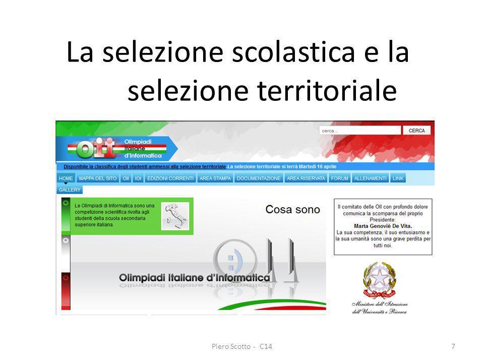 Piero Scotto - C147 La selezione scolastica e la selezione territoriale