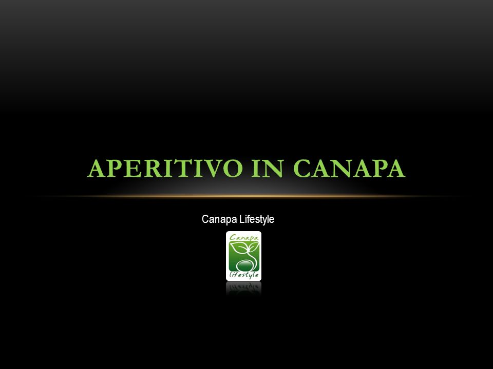Canapa Lifestyle APERITIVO IN CANAPA