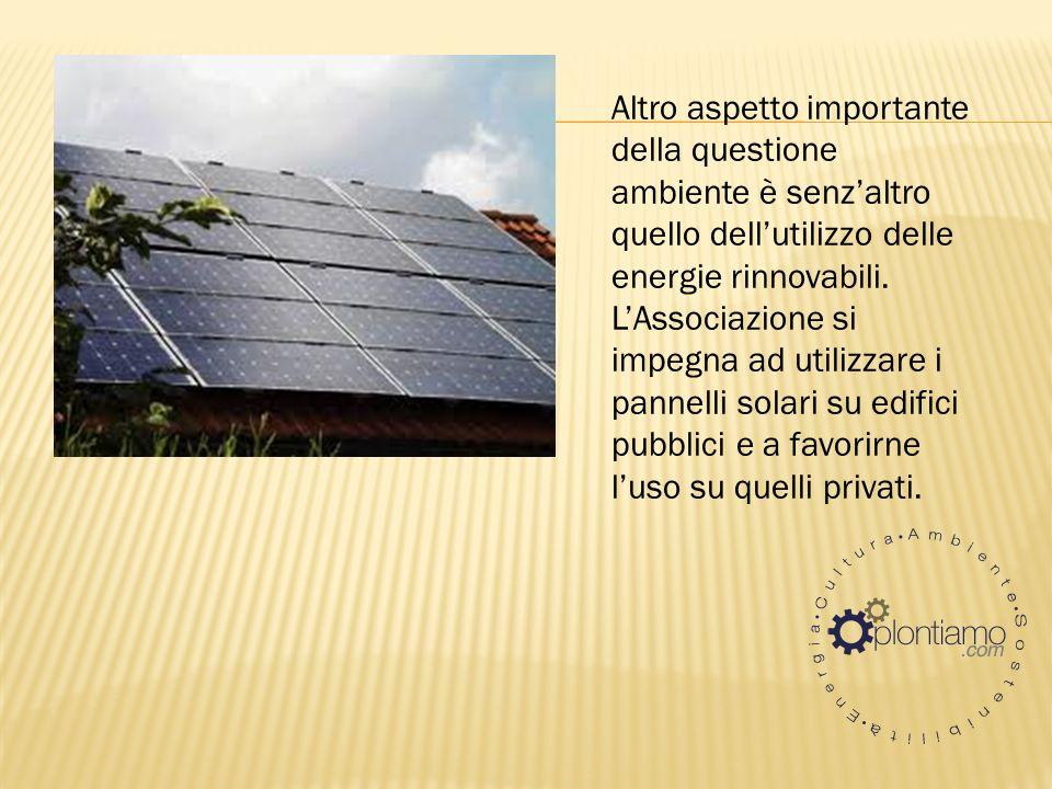 Altro aspetto importante della questione ambiente è senzaltro quello dellutilizzo delle energie rinnovabili.