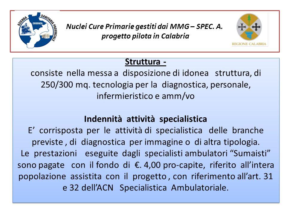 Struttura - consiste nella messa a disposizione di idonea struttura, di 250/300 mq. tecnologia per la diagnostica, personale, infermieristico e amm/vo