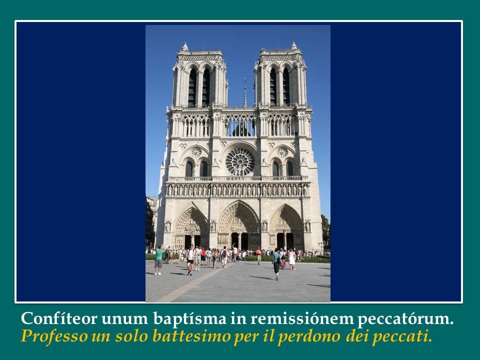 Confíteor unum baptísma in remissiónem peccatórum.