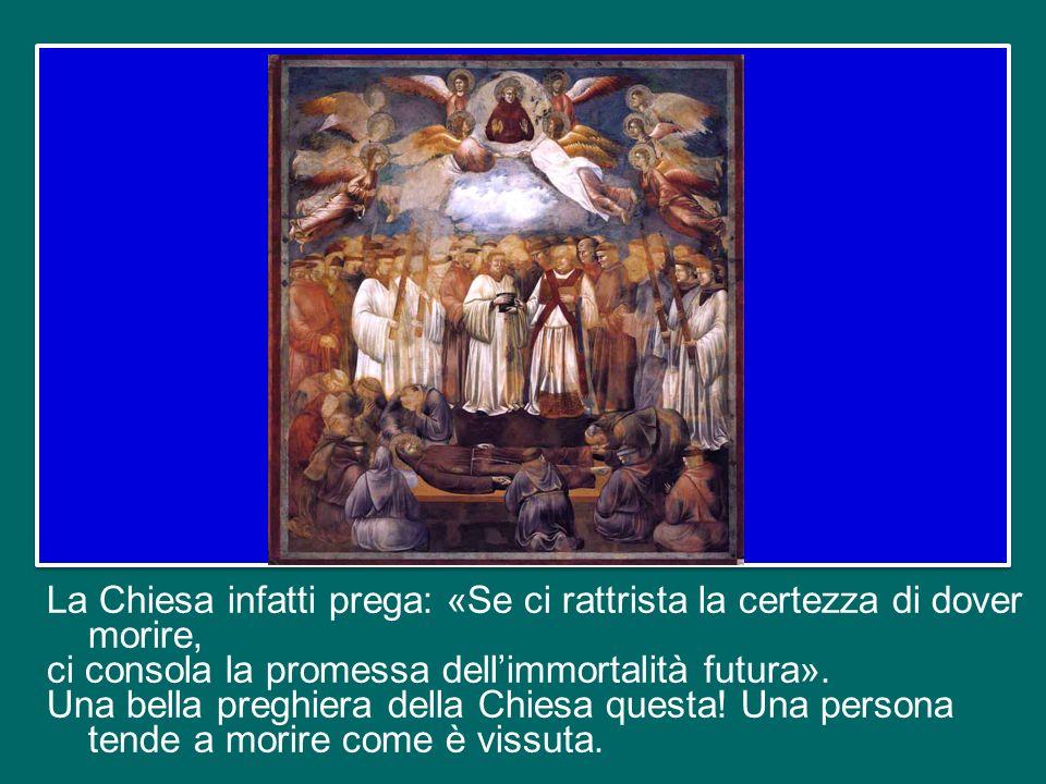 La risurrezione di Gesù non dà soltanto la certezza della vita oltre la morte, ma illumina anche il mistero stesso della morte di ciascuno di noi.