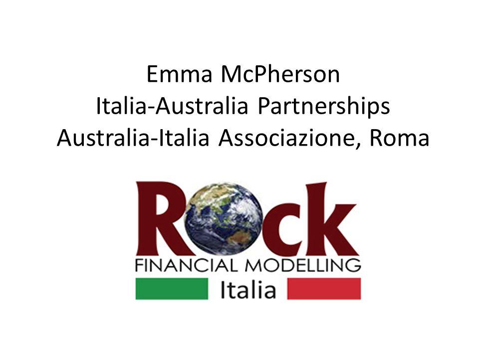 Emma McPherson Italia-Australia Partnerships Australia-Italia Associazione, Roma