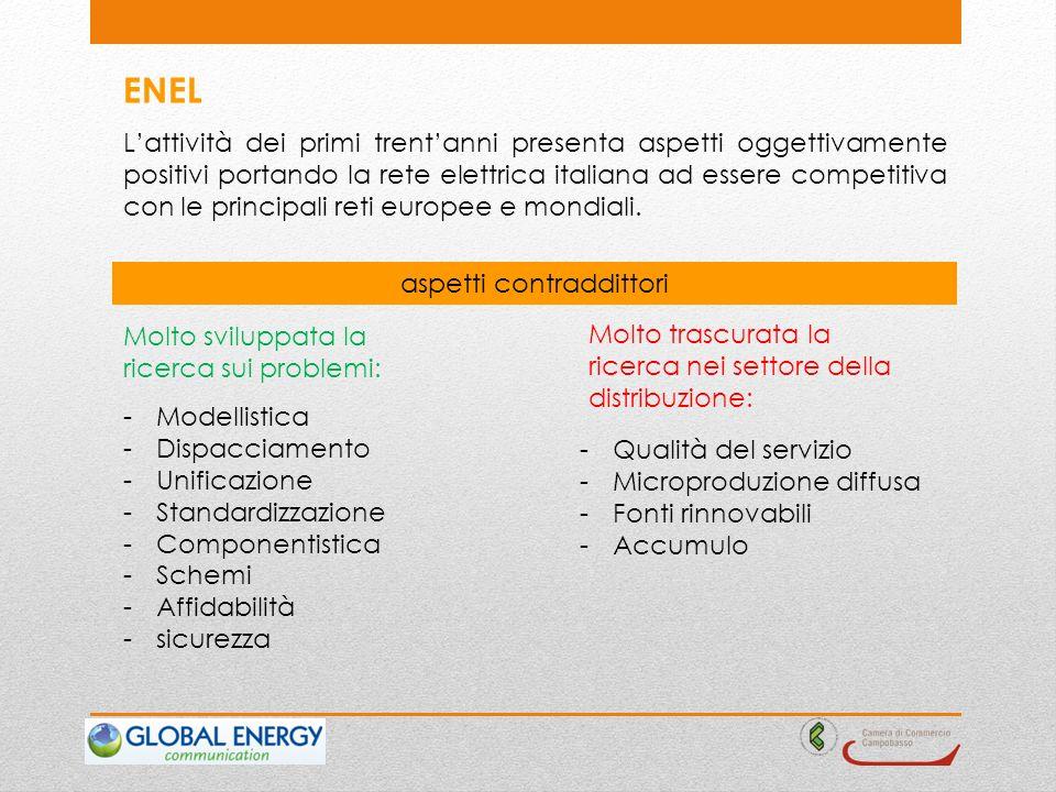 ENEL Lattività dei primi trentanni presenta aspetti oggettivamente positivi portando la rete elettrica italiana ad essere competitiva con le principali reti europee e mondiali.