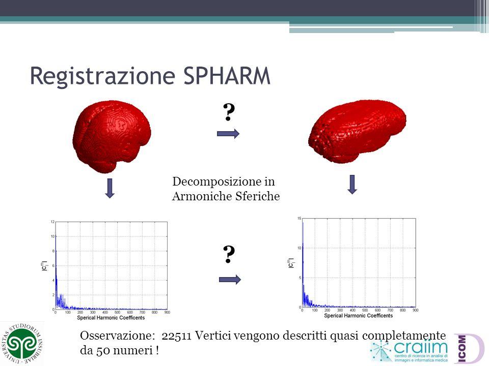 Stato DellArte: Rigid SPHARM (1) Decomposizione in Armoniche Sferiche Esiste una soluzione analitica !!