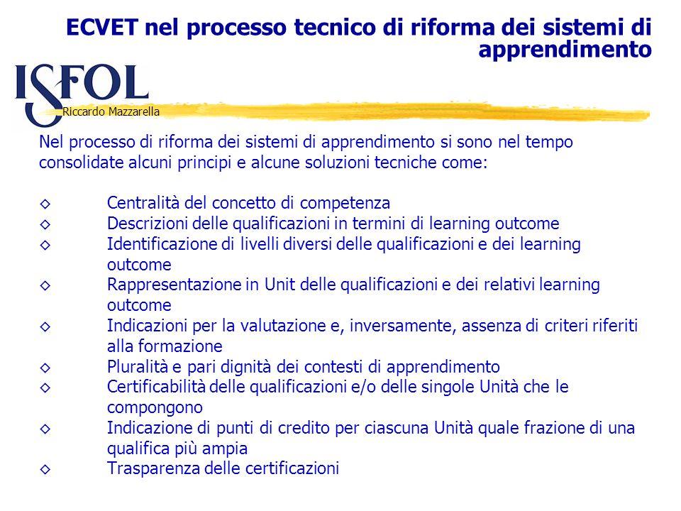Riccardo Mazzarella Nel processo di riforma dei sistemi di apprendimento si sono nel tempo consolidate alcuni principi e alcune soluzioni tecniche com