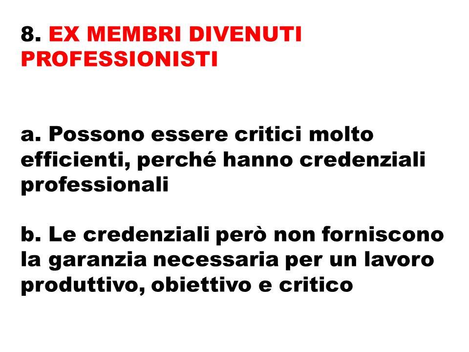 8. EX MEMBRI DIVENUTI PROFESSIONISTI a.