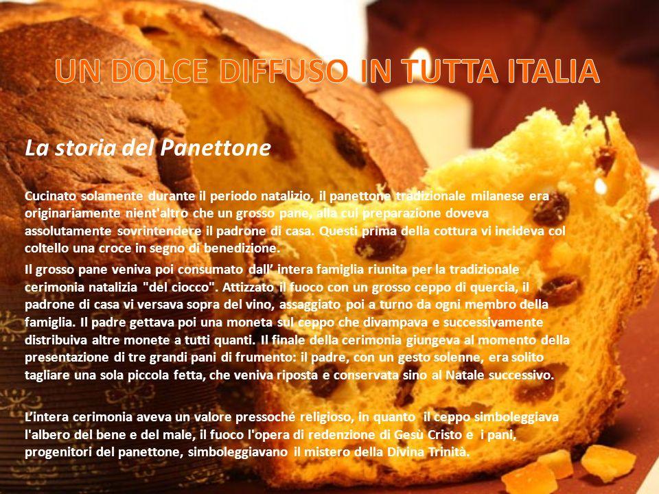 La storia del Panettone Cucinato solamente durante il periodo natalizio, il panettone tradizionale milanese era originariamente nient'altro che un gro
