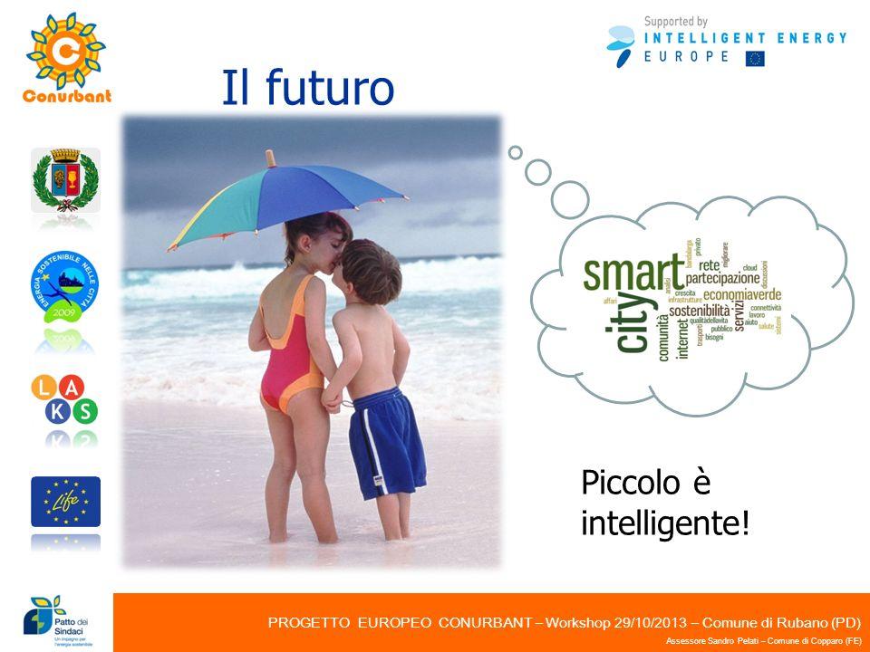 PROGETTO EUROPEO CONURBANT – Workshop 29/10/2013 – Comune di Rubano (PD) Assessore Sandro Pelati – Comune di Copparo (FE) Il futuro Piccolo è intellig
