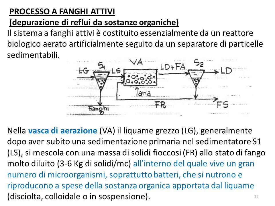 Il sistema a fanghi attivi è costituito essenzialmente da un reattore biologico aerato artificialmente seguito da un separatore di particelle sediment
