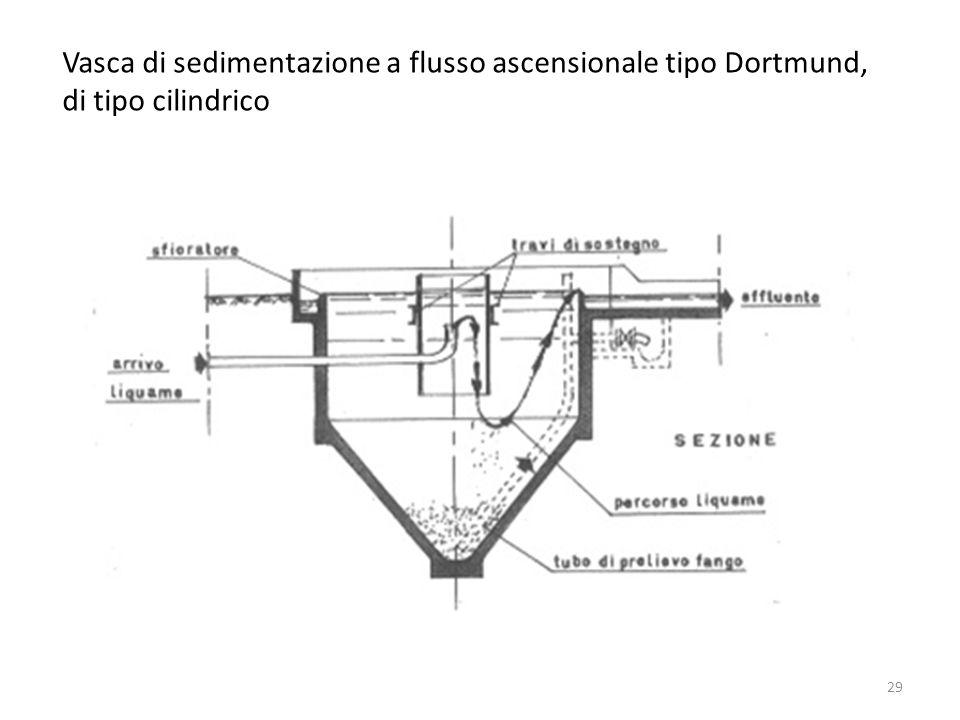 Vasca di sedimentazione a flusso ascensionale tipo Dortmund, di tipo cilindrico 29