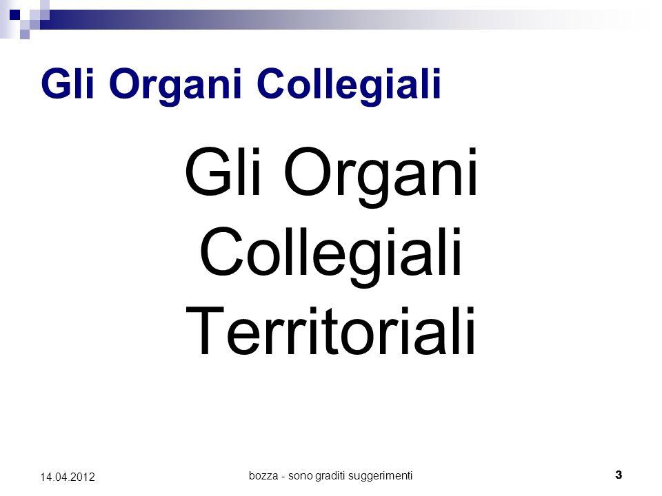 bozza - sono graditi suggerimenti4 14.04.2012 Generalità Sono disciplinati dagli artt.
