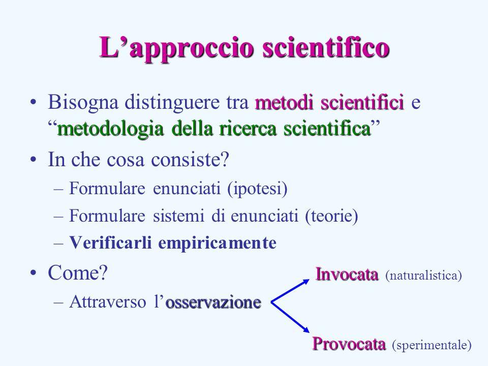 Lapproccio scientifico metodi scientifici metodologia della ricerca scientificaBisogna distinguere tra metodi scientifici emetodologia della ricerca scientifica In che cosa consiste.