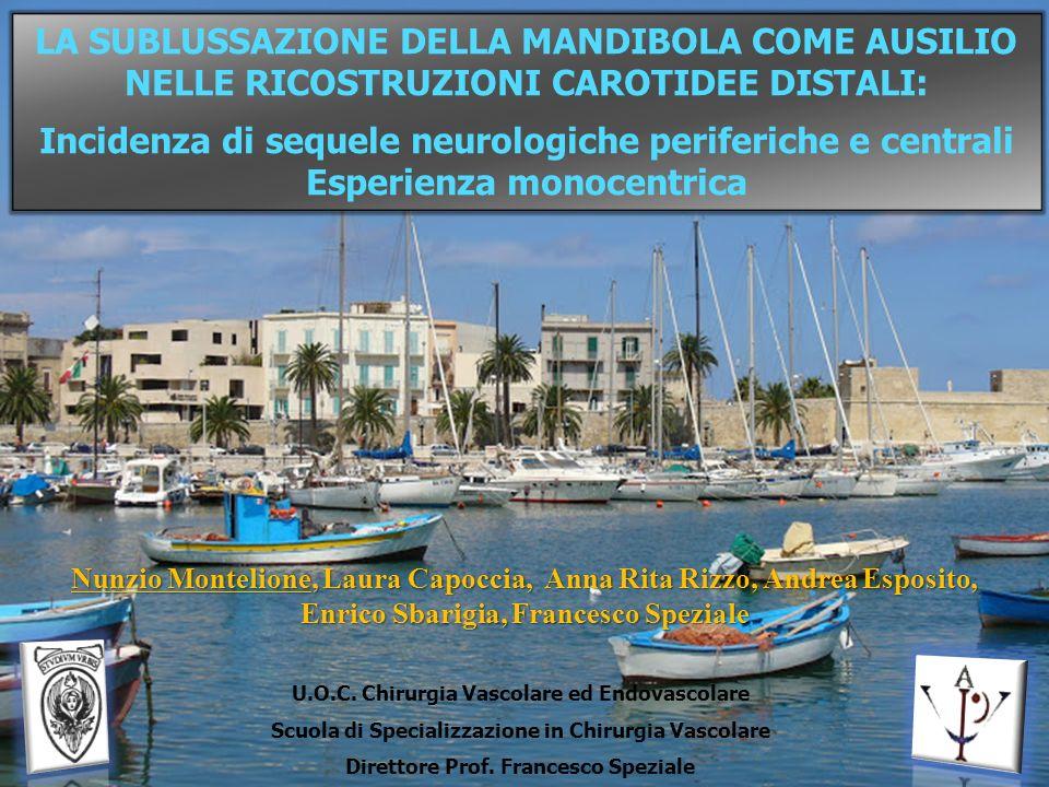 LA SUBLUSSAZIONE DELLA MANDIBOLA COME AUSILIO NELLE RICOSTRUZIONI CAROTIDEE DISTALI: Incidenza di sequele neurologiche periferiche e centrali Esperien