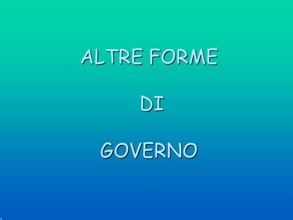 ALTRE FORME DI GOVERNO