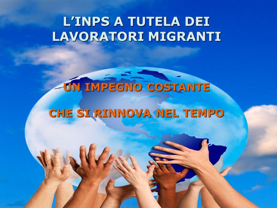 PANORAMA INTERNAZIONALE Il mercato del lavoro nel terzo millennio è caratterizzato garanzia di Tutela dei diritti previdenziali Parità di trattamento