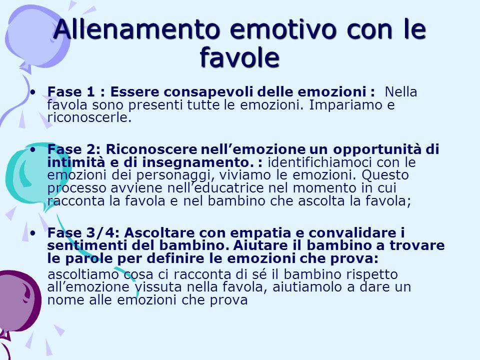 Allenamento emotivo con le favole Fase 1 : Essere consapevoli delle emozioni : Nella favola sono presenti tutte le emozioni. Impariamo e riconoscerle.