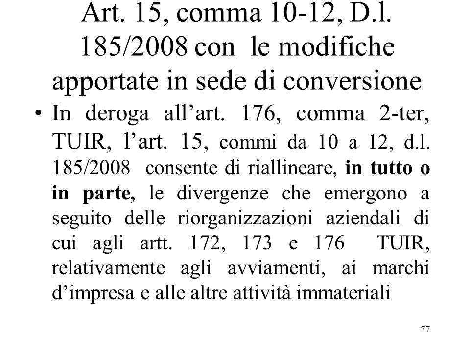 Art.15, comma 10-12, D.l.