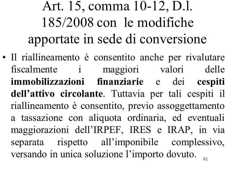 Art. 15, comma 10-12, D.l.