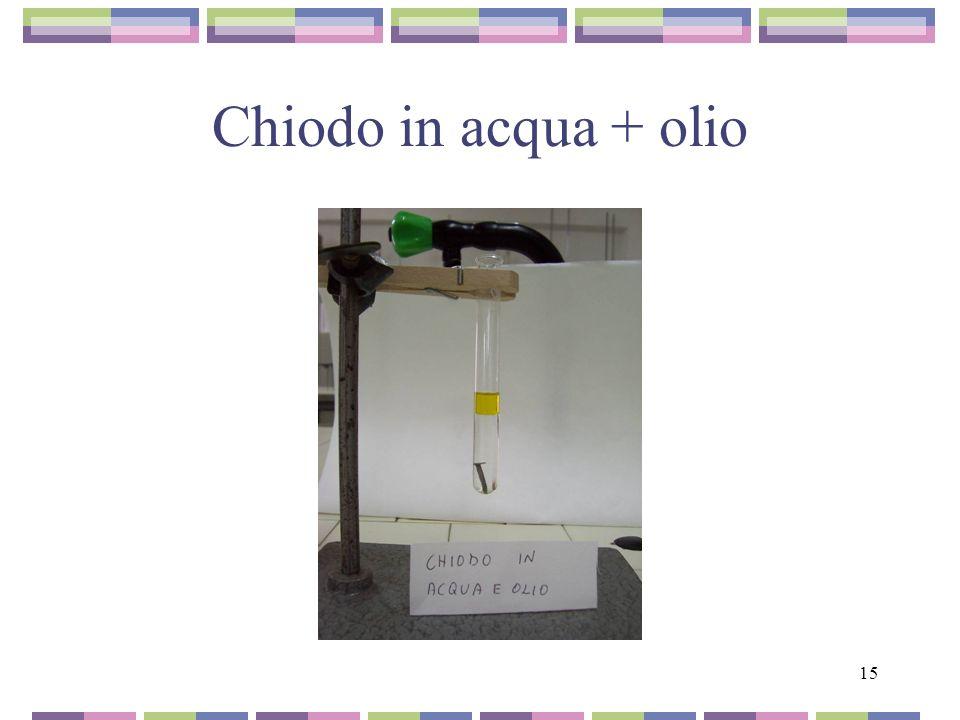 15 Chiodo in acqua + olio