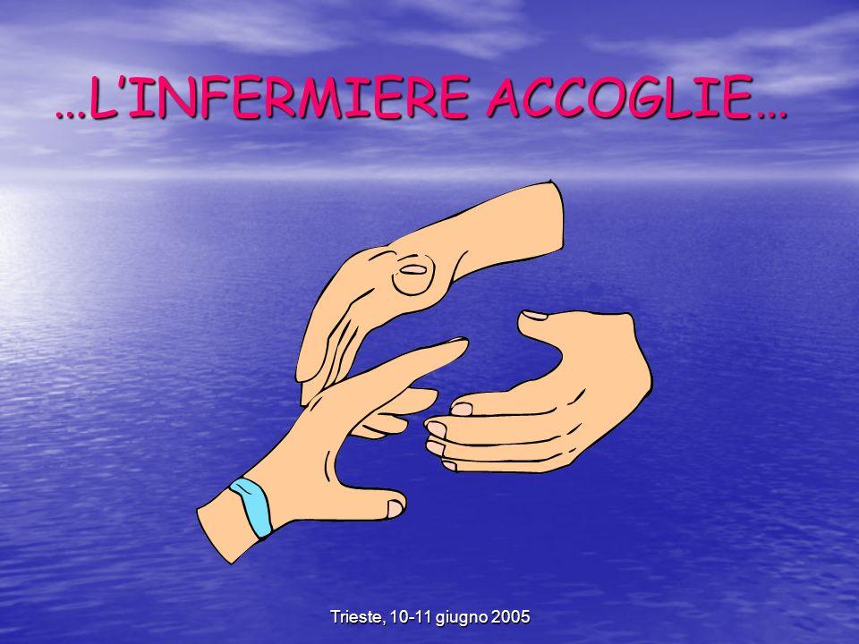 Trieste, 10-11 giugno 2005 …LINFERMIERE ACCOGLIE…