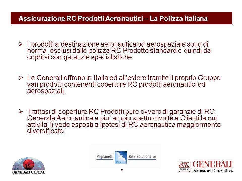 6 Assicurazione RC Prodotti Aviatione – Imposte di assicurazione Comparazione tra imposte di assicurazione in tema di RC Prodotti Aeronautici in Europ