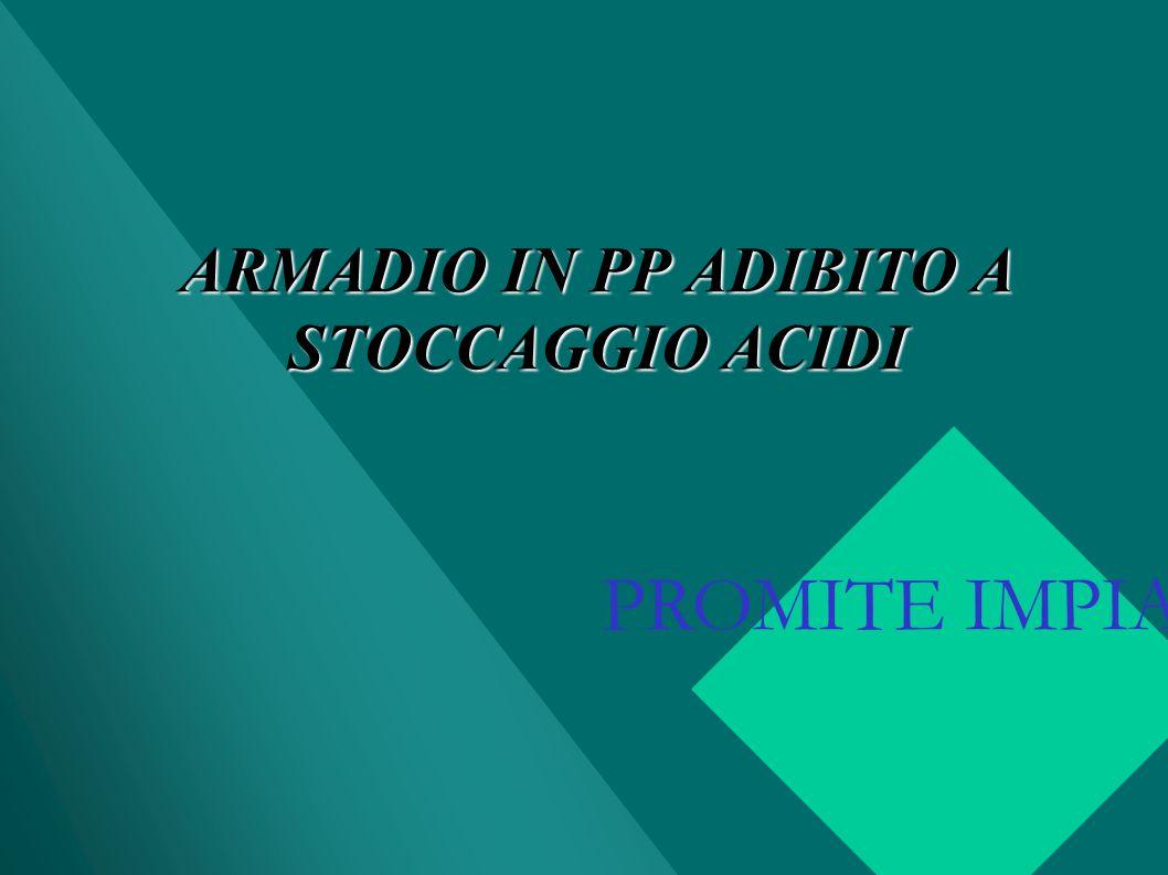 ARMADIO IN PP ADIBITO A STOCCAGGIO ACIDI PROMITE IMPIANTI