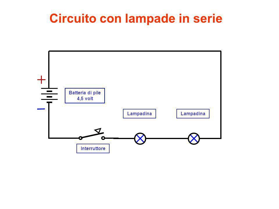 Circuito lampade in serie