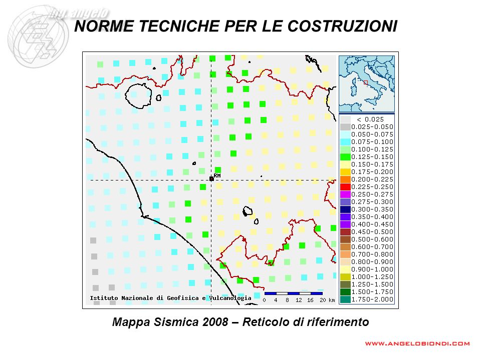 MAPPA SISMICA INTERATTIVA INGV Reticolo di riferimento (distanza nodi 10 km)