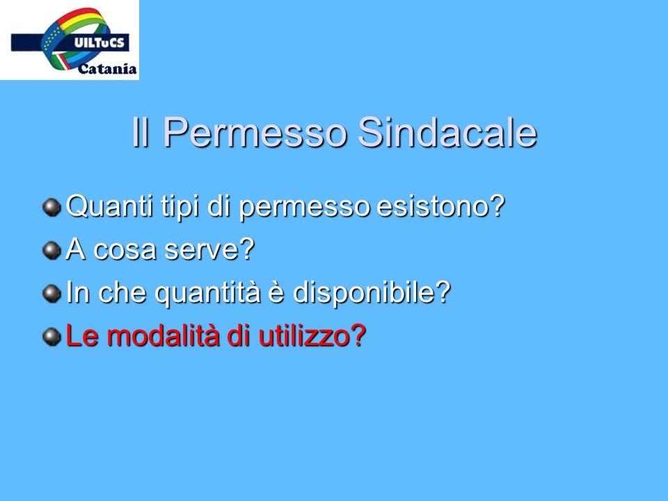 Il Permesso Sindacale Quanti tipi di permesso esistono? A cosa serve? In che quantità è disponibile? Le modalità di utilizzo?