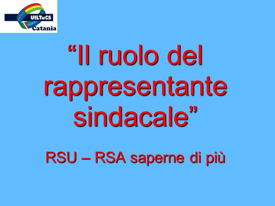Il ruolo del rappresentante sindacale RSU – RSA saperne di più