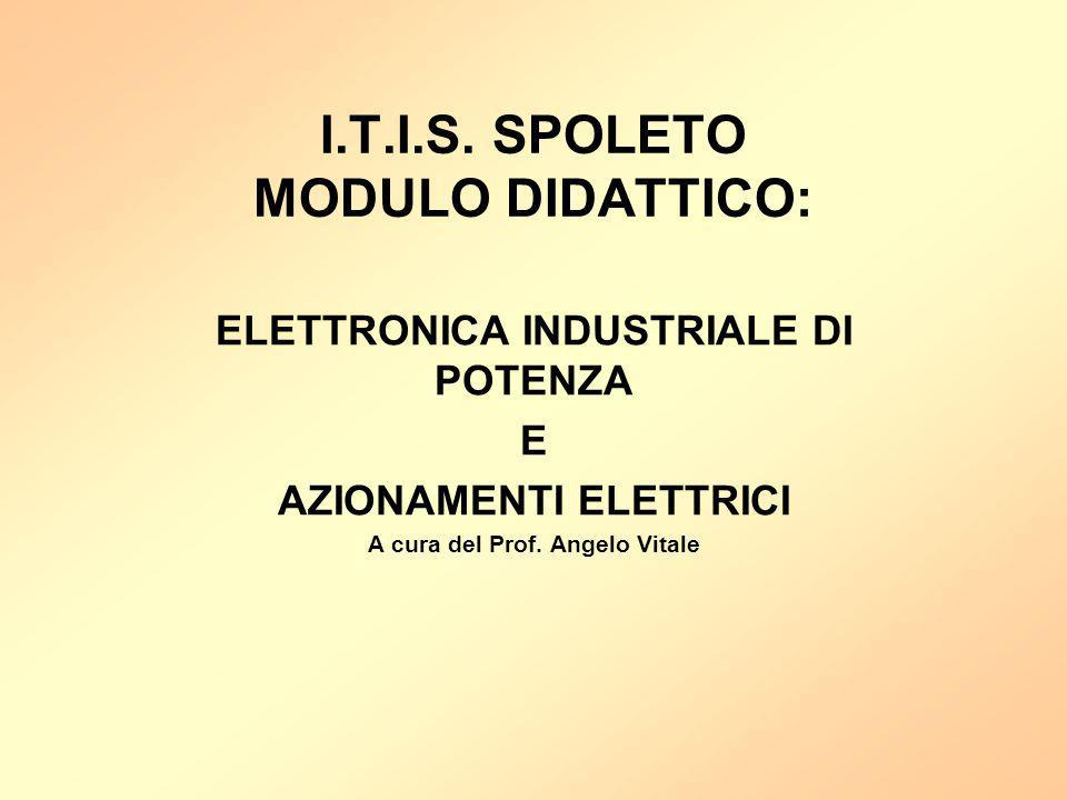 I.T.I.S. SPOLETO MODULO DIDATTICO: ELETTRONICA INDUSTRIALE DI POTENZA E AZIONAMENTI ELETTRICI A cura del Prof. Angelo Vitale