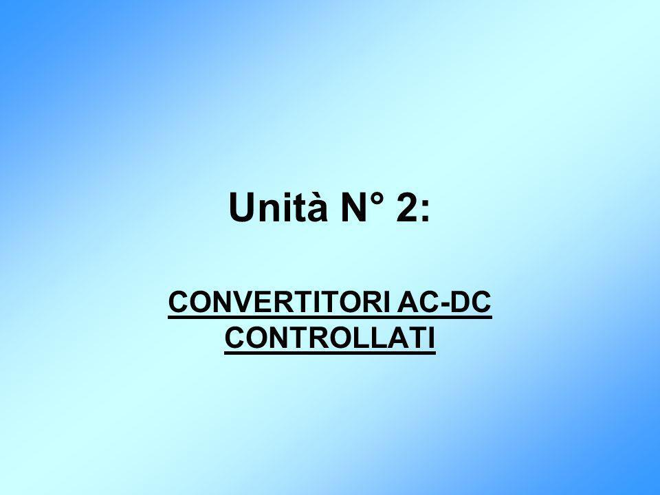 Unità N° 2: CONVERTITORI AC-DC CONTROLLATI