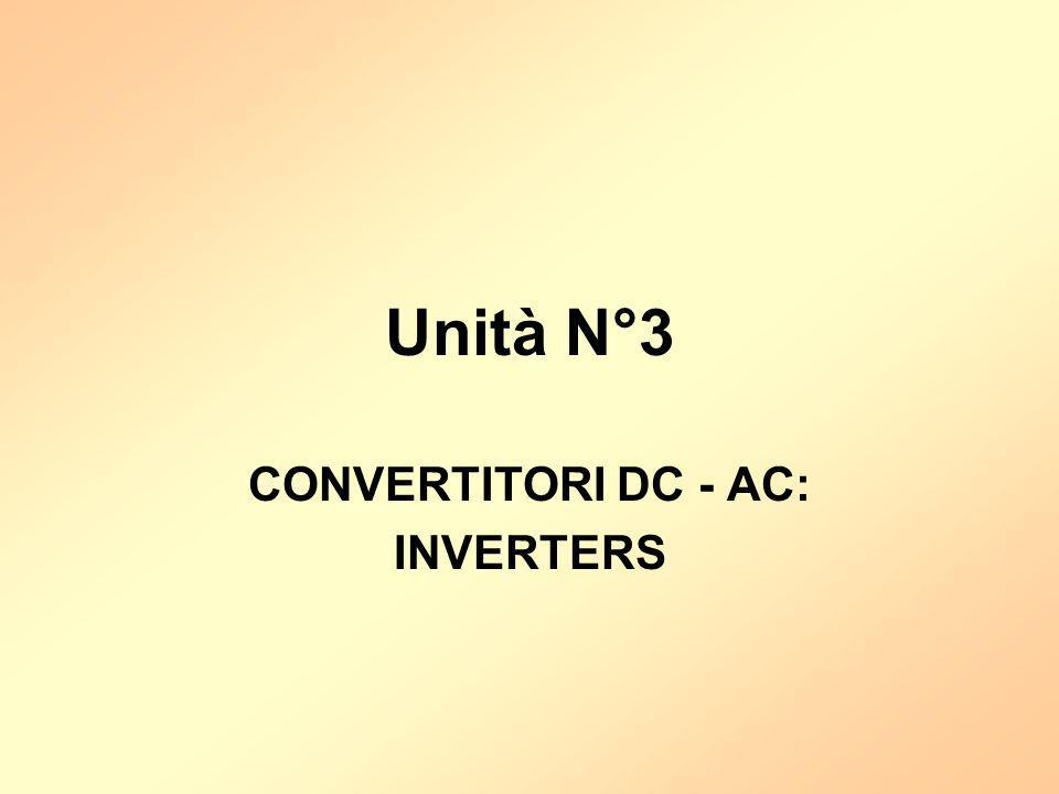 Unità N°3 CONVERTITORI DC - AC: INVERTERS