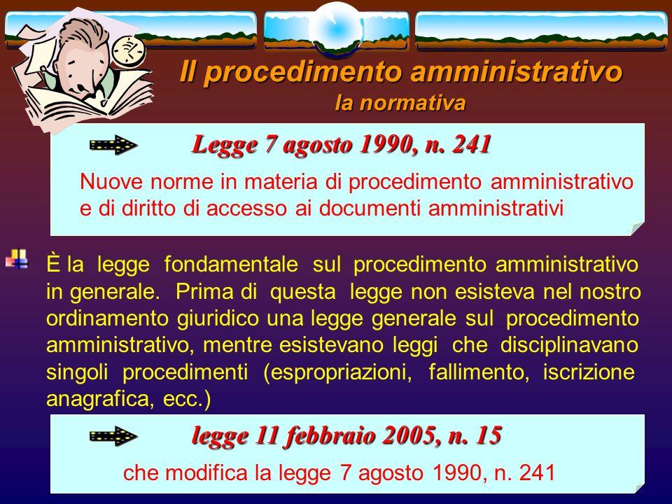 romano minardi4 Il procedimento amministrativo la normativa Legge 7 agosto 1990, n. 241 Nuove norme in materia di procedimento amministrativo e di dir